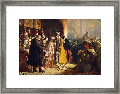 The Return Of Mary Queen Of Scots To Edinburgh Framed Print by Mountain Dreams