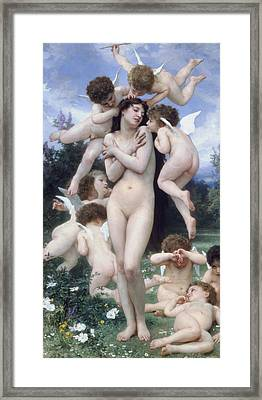 The Return Of Spring Framed Print by Adolphe-William Bouguereau