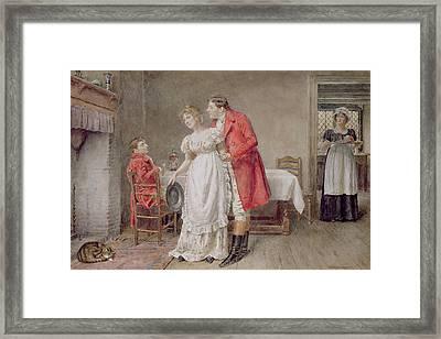 The Return Of The Huntsman  Framed Print by George Goodwin Kilburne