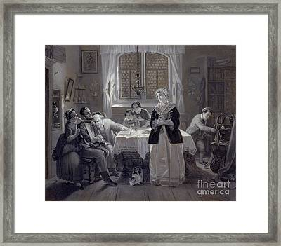 The Return Of The Jewish Volunteer Framed Print by Celestial Images