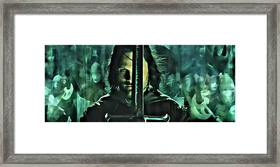 The Return Of The King Framed Print by Florian Rodarte