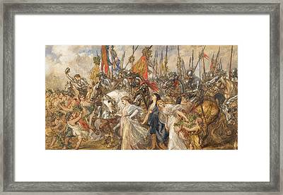 The Return Of The Victors Framed Print by Sir John Gilbert