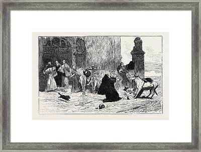 The Return To The Monastery Framed Print by English School