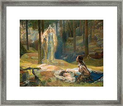The Revelation. Brunhilde Seeing Siegmund And Sieglinde Framed Print