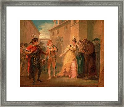 The Revelation Of Olivias Betrothal, From Twelfth Night Framed Print