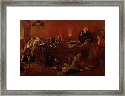 The Reverend Geoffrey Shovel, Chaplain Framed Print by Thomas Davidson