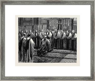 The Revived Bishopric Of Truro Framed Print by English School