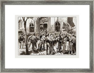 The Revolt In Valencia, Federalists Taking Possession Framed Print