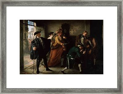 The Revolt Of Esquilache Oil On Canvas Framed Print by Jose Marti y Monso