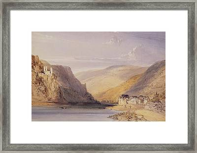 The Rhine At Assmannshausen Framed Print by William Callow