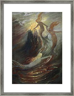 The Rhine Gold, 1906 Framed Print by Hermann Hendrich