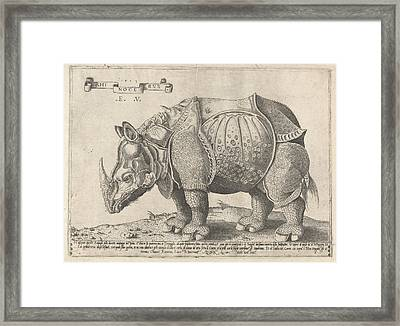 The Rhinoceros, Enea Vico, Albrecht Drer Framed Print by Enea Vico And Albrecht D?rer