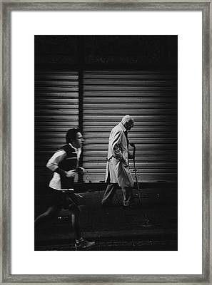 The Rhythm Of Life. Framed Print