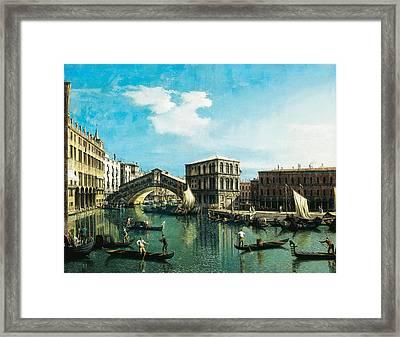 The Rialto Bridge In Venice Framed Print