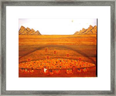 The Rich Man And The Beggar Lazarus Framed Print