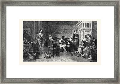 The Rich Widow, In The Exhibition Of The Royal Academy 1869 Framed Print by English School