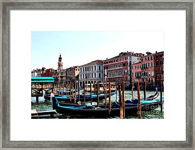 The Ride Venice Italy Framed Print