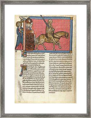 The Rider On The Pale Horse Framed Print by British Library
