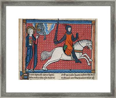 The Rider On The Red Horse Framed Print by British Library