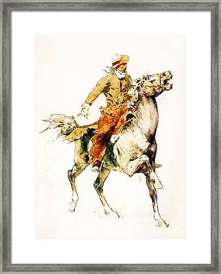 The Rider Framed Print by Pg Reproductions