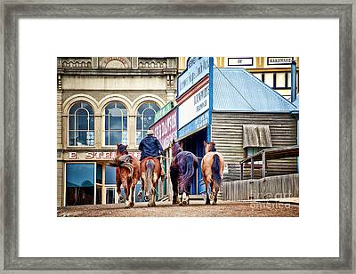 Framed Print featuring the photograph The Rider by Yew Kwang