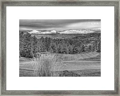 Framed Print featuring the photograph The Ridge 18th by Ron White