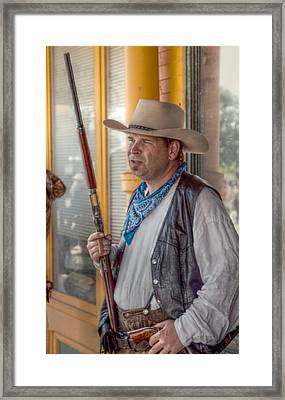 The Rifleman Framed Print by Linda Unger