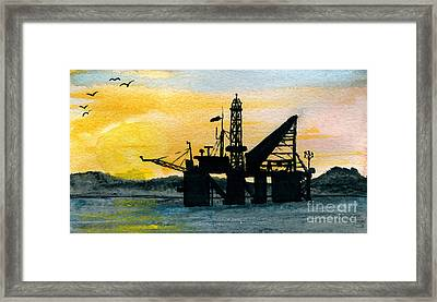 The Rig Framed Print