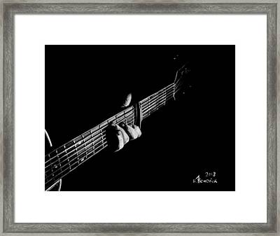 The Right Chord Framed Print by Kayleigh Semeniuk