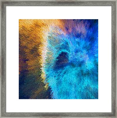 The Right Direction - Abstract Art By Sharon Cummings Framed Print by Sharon Cummings