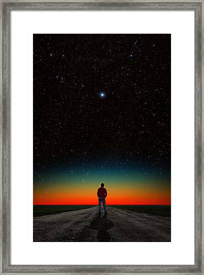 Framed Print featuring the photograph The Right Direction by Larry Landolfi