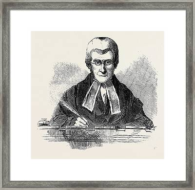 The Right Hon. Lord Campbell, Lord Chief Justice Framed Print