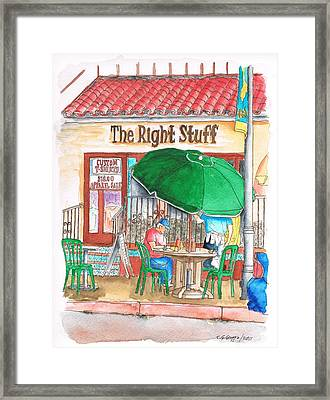 The Right Stuff In Palm Springs, California Framed Print