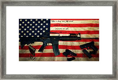 The Right To Bear Arms Framed Print