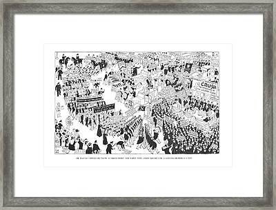 The Rightist Opposition Forms A United Front Framed Print by Carl Rose