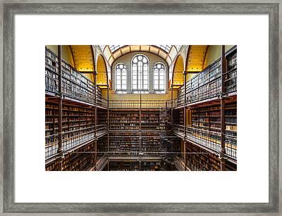 The Rijksmuseum Library Framed Print