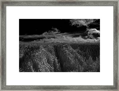 Framed Print featuring the photograph The Rim by Tom Kelly