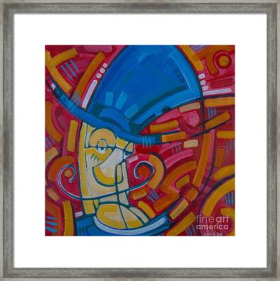 Framed Print featuring the painting The Ring Leader by Michael Ciccotello
