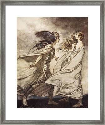 The Ring Upon Thy Hand - ..ah Framed Print by Arthur Rackham