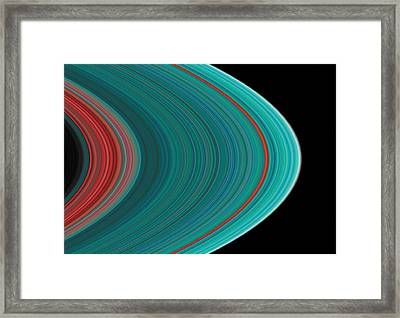 The Rings Of Saturn Framed Print