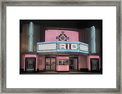 The Rio At Night Framed Print by Lynn Sprowl