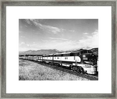 The Rio Grande Colorado Eagle Framed Print by Underwood Archives