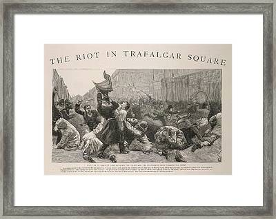 The Riot In Trafalgar Square Framed Print by British Library
