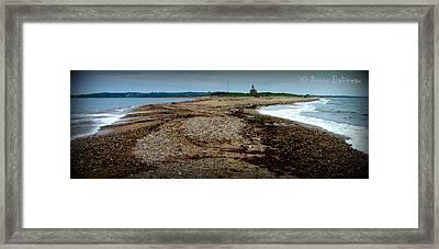 the rip Block Island Framed Print by Anne Babineau