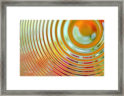 The Ripple Effect Framed Print by Mary Machare