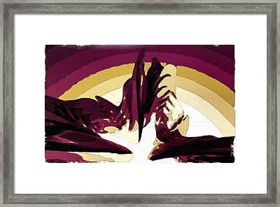 The Rise Of Lava Framed Print by Florian Rodarte