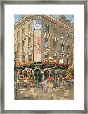 The Rising Sun, Marylebone Oil On Canvas Framed Print by Peter Miller