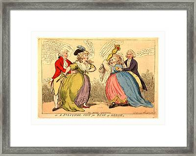 The Rival Queens Or A Political Heat For Rege & Grege Framed Print by Litz Collection