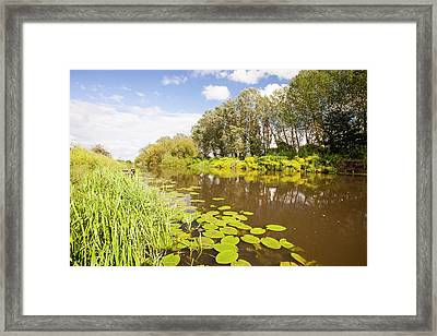 The River Avon At Pershore Framed Print