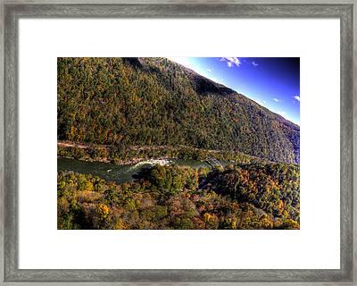 The River Below Framed Print by Jonny D